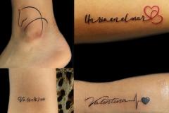 Tatuajes varios realizados en nuestro centro de Montera de Madrid