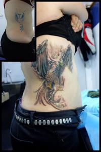 Tatuaje de águila imperial