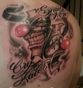 Tatuaje de caras de payasos