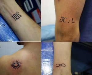 Tatuaje pequeños varios