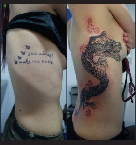 Tatuaje cover de dragón