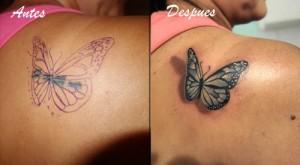 Tatuaje cover de mariposa
