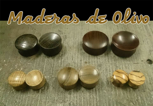 Dilataciones de madera de olivo