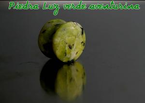 Dilataciones de piedra verde aventurina