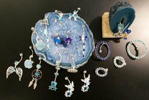 Piercing piezas cristal swarovski ombligo