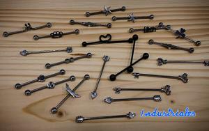Pendientes para piercing industrial