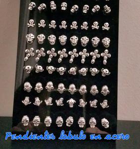 Pendientes para piercing de lóbulo en acero