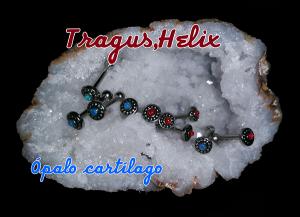 Pendientes para piercing de helix, tragus y cartílago