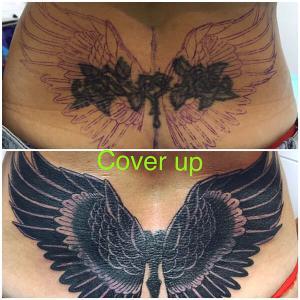 Tatuaje cover de alas