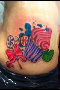 Tatuaje de golosinas