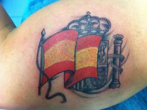 Tatuaje de la bandera de España
