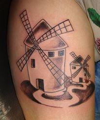 Tatuaje de molino de viento