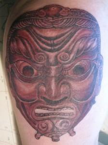 Tatuaje de máscara