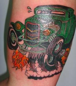 Tatuaje de coche antigüo