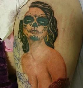 Tatuaje de cuerpo de catrina