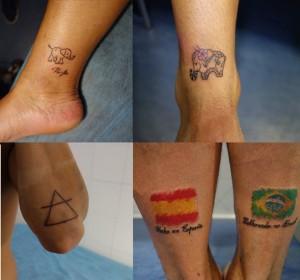 Collage de tatuajes varios