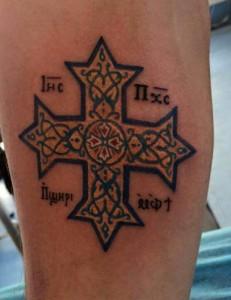 Tatuaje de una cruz
