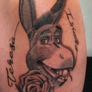 Tatuaje de burro de Shrek