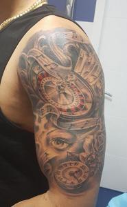 Tatuaje de ruleta de casino