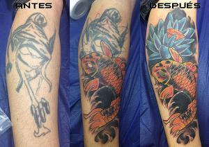 Tatuaje de carpa realizado en nuestro centro de Montera de Madrid