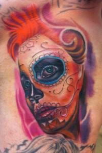 Tatuaje de catrina moderna