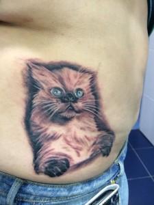 Tatuaje de gatito