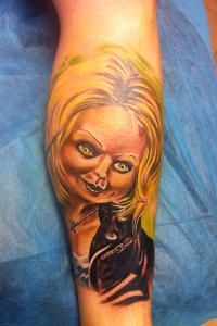 Tatuaje de  novia de Chuky