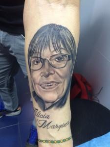 Tatuaje de retrato realizado en nuestro centro Tattoo Center Montera de Madrid