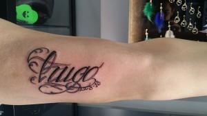 Tatuaje de lettering