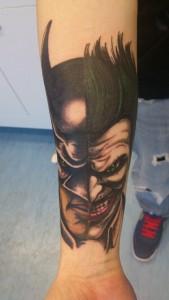 Tatuaje de Batman y Joker