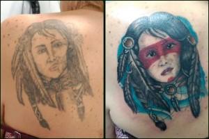 Tatuaje de guerrera india