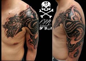 Tatuaje de dragáon realizado por nuestro tatuador Miguel