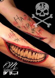 Tatuaje de boca de Joker