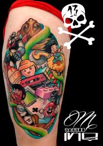 Tatuaje de dibujos animados
