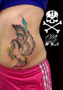 Tatuaje de caballo alado Pegaso