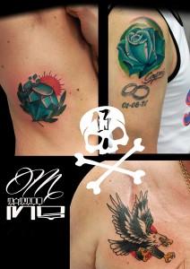 Tatuajes varios realizados en nuestro centro Parquesur de Madrid