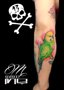 Tatuaje de periquito