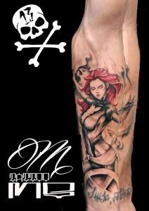 Tatuaje de guerrera