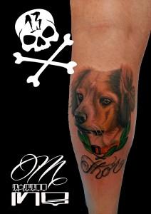 Tatuaje de retrato de perro