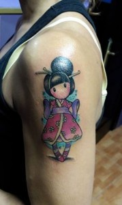 Tatuaje de geisha en comic