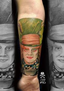 Tatuaje de sombrerero loco