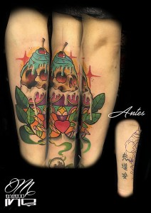 Tatuaje de helado