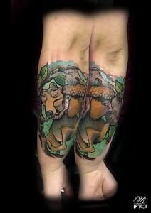 Tatuaje de personaje de la Edad de Hielo