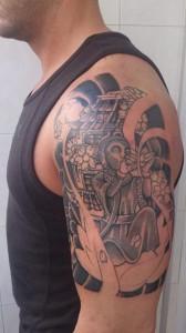 Tatuaje de Buda en brazo