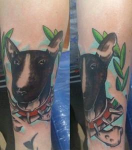 Tatuaje de perro pitbull