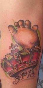 Tatuaje de pie de bebé
