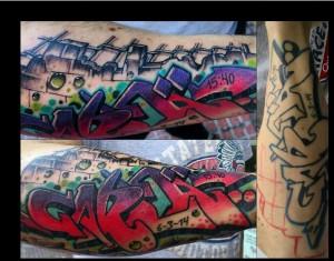 Tatuaje de graffiti