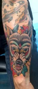 Tatuaje de cabeza de dragón