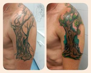 Tatuaje de árbol