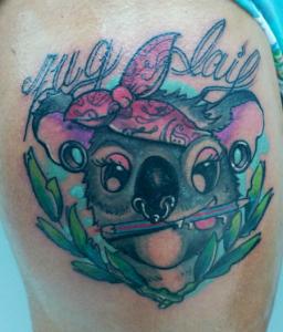 Tatuaje de dibujo animado